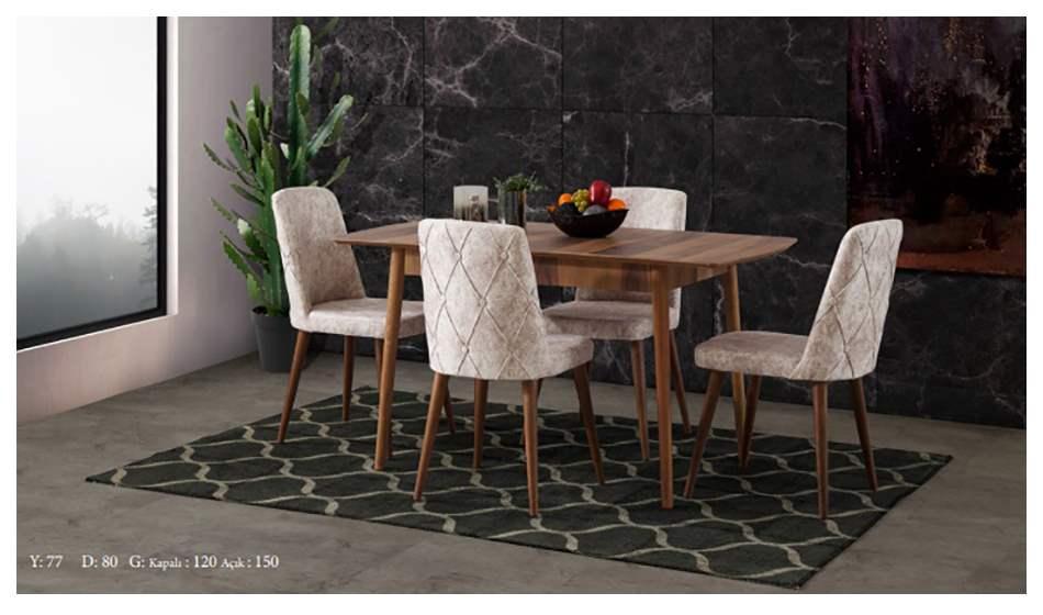 inegöl mobilya Bodrum 2 Mutfak Masası