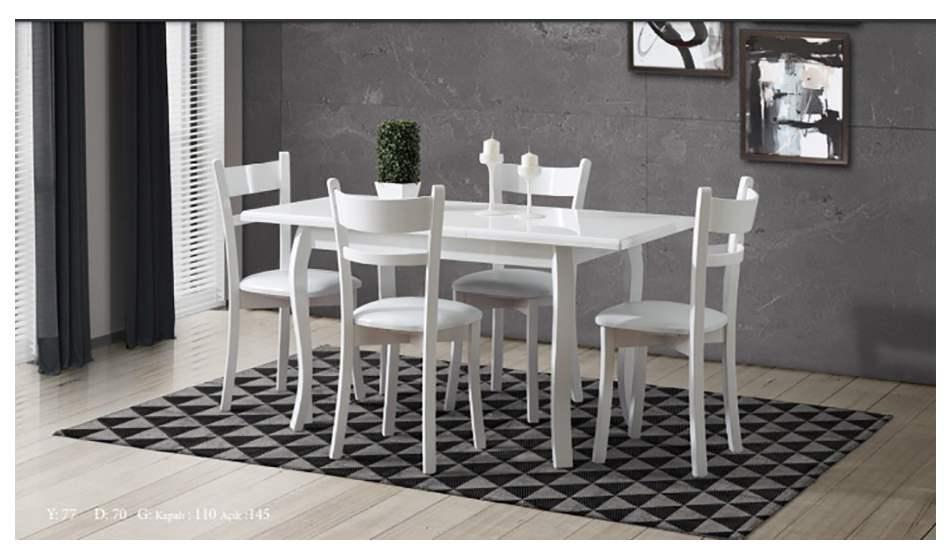 inegöl mobilya Efes Beyaz Mutfak Masası