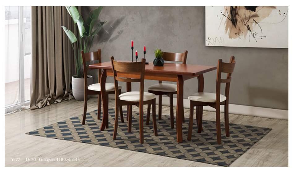 inegöl mobilya Efes Ceviz Mutfak Masası