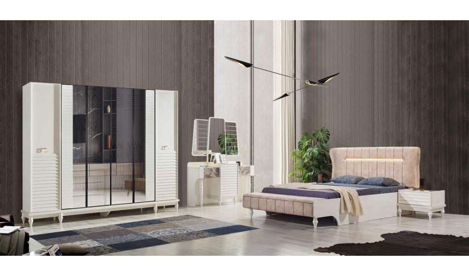 inegöl mobilya Okyanus Beyaz Yatak Odası Takımı