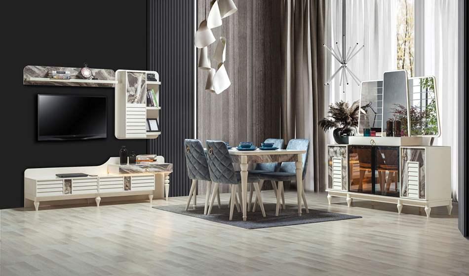 inegöl mobilya Rustik Yemek Odası Takımı