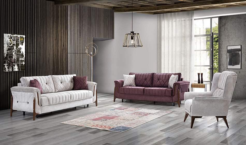 inegöl mobilya Milano Modern Koltuk Takımı 3+3+1