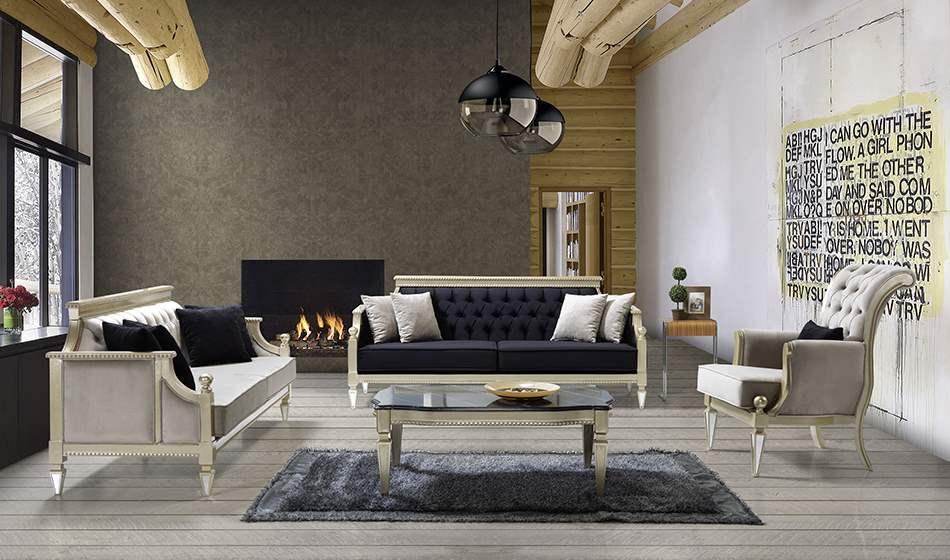 inegöl mobilya Vezir Artdeco Koltuk Takımı 3+3+1