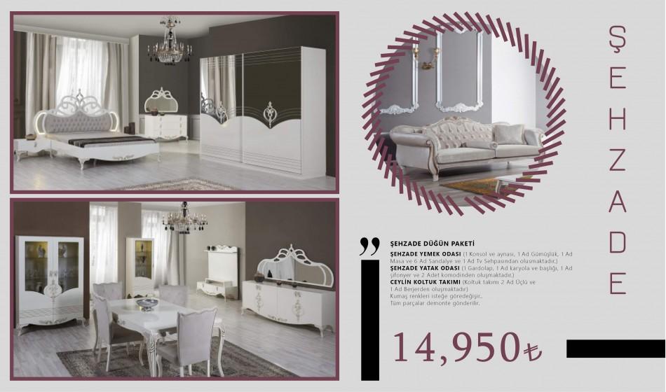 inegöl mobilya Şehzade Düğün Paketi