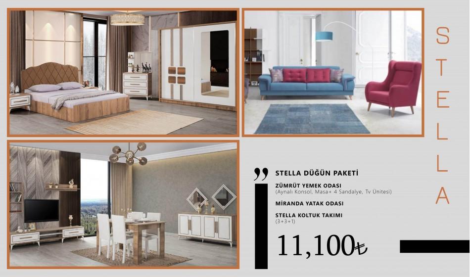 inegöl mobilya Stella Düğün Paketi