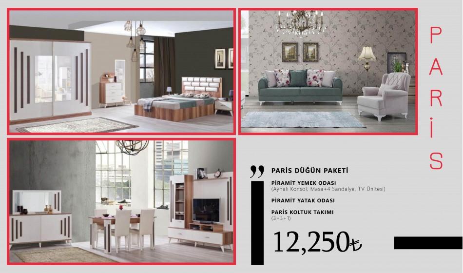 inegöl mobilya Paris Düğün Paketi