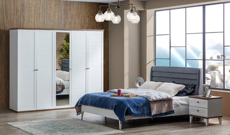 inegöl mobilya Zambak 5 Kapılı Yatak Odası Takımı
