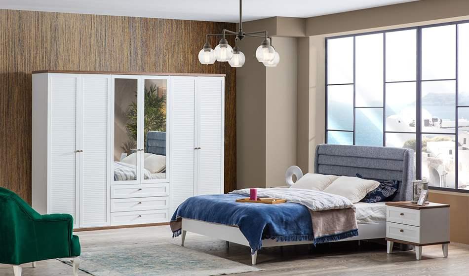 inegöl mobilya Zambak 6 Kapılı Yatak Odası Takımı