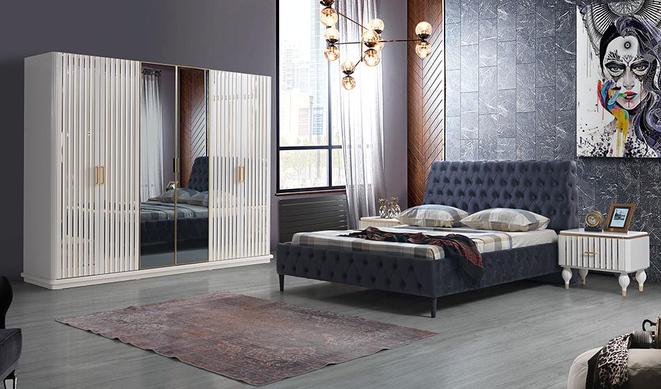 inegöl mobilya Işıltı Yatak Odası Takımı