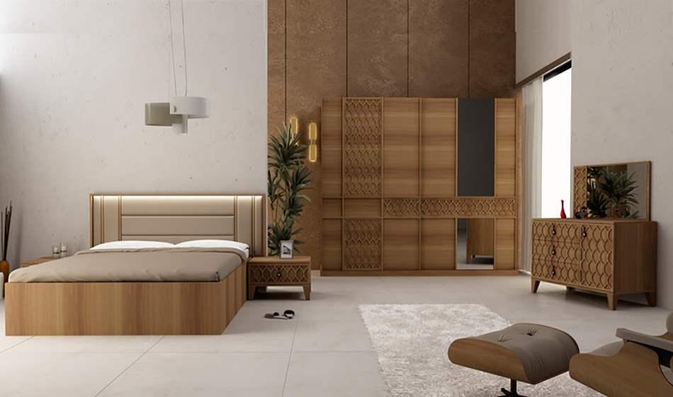 inegöl mobilya Bahar Ceviz Yatak Odası Takımı