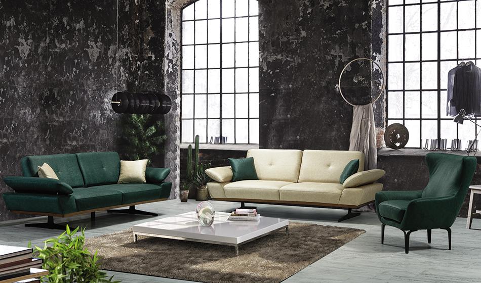 inegöl mobilya Eylül Modern Koltuk Takımı 3+3+1
