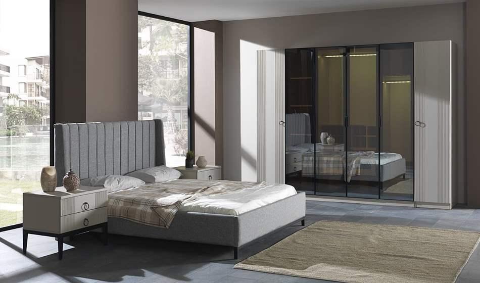 inegöl mobilya Beyzade Beyaz Yatak Odası Takımı
