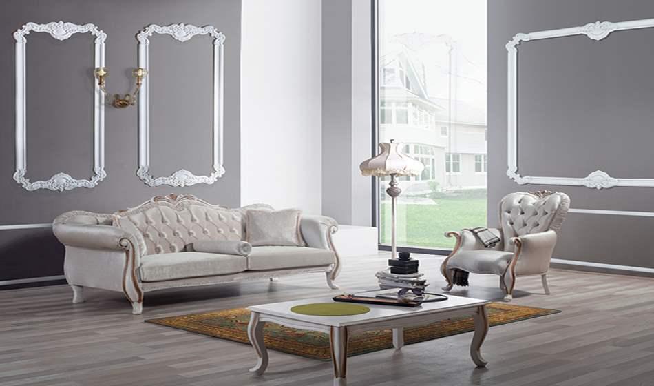 inegöl mobilya Ceylin Klasik Koltuk Takımı 3+3+1+Sehpa