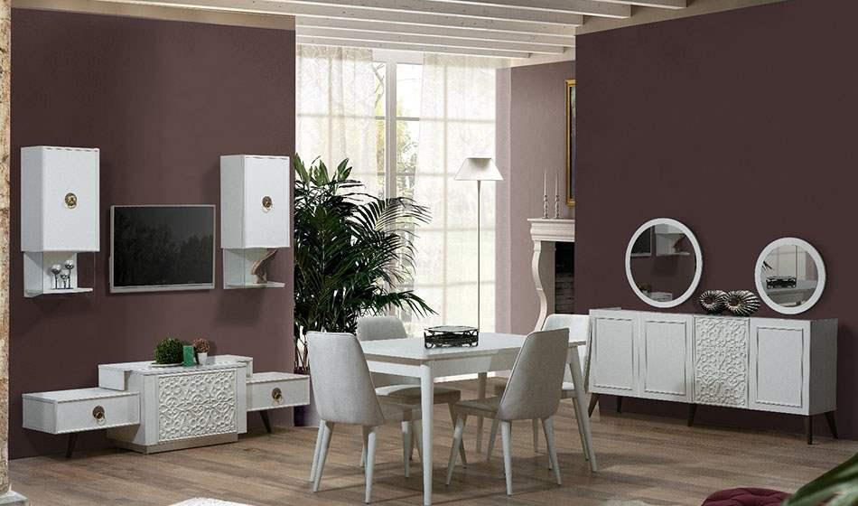 inegöl mobilya Flora Yemek Odası Takımı