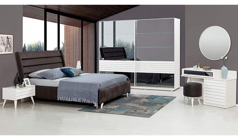 inegöl mobilya Klas Yatak Odası Takımı (Beyaz)