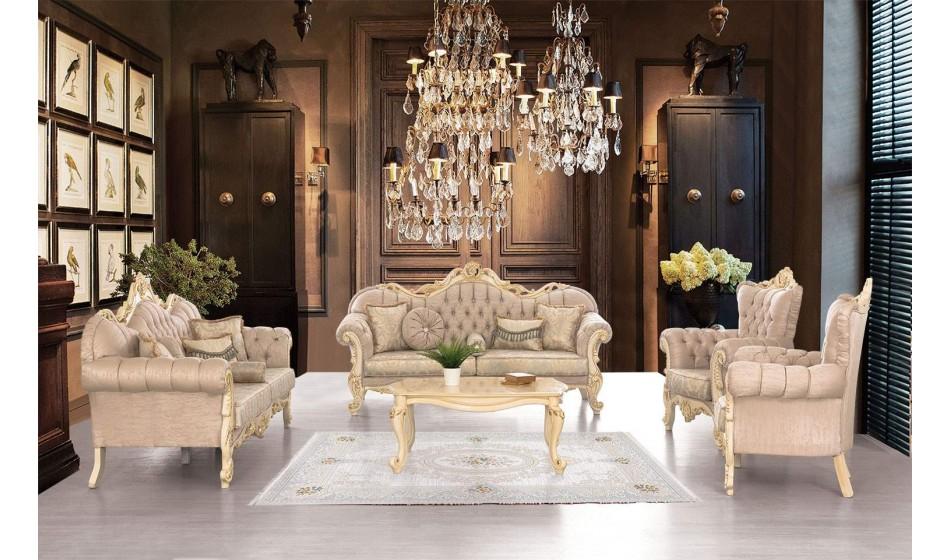 inegöl mobilya Barok Klasik Koltuk Takımı 3+3+1+Sehpa