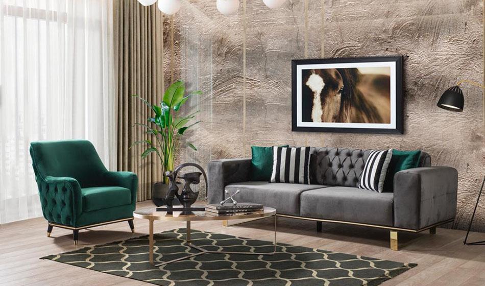 inegöl mobilya Nova Koltuk Takımı 3+3+1