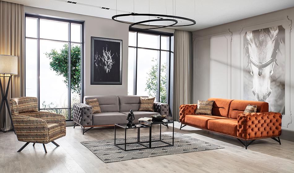 inegöl mobilya Elegance Koltuk Takımı 3+3+1