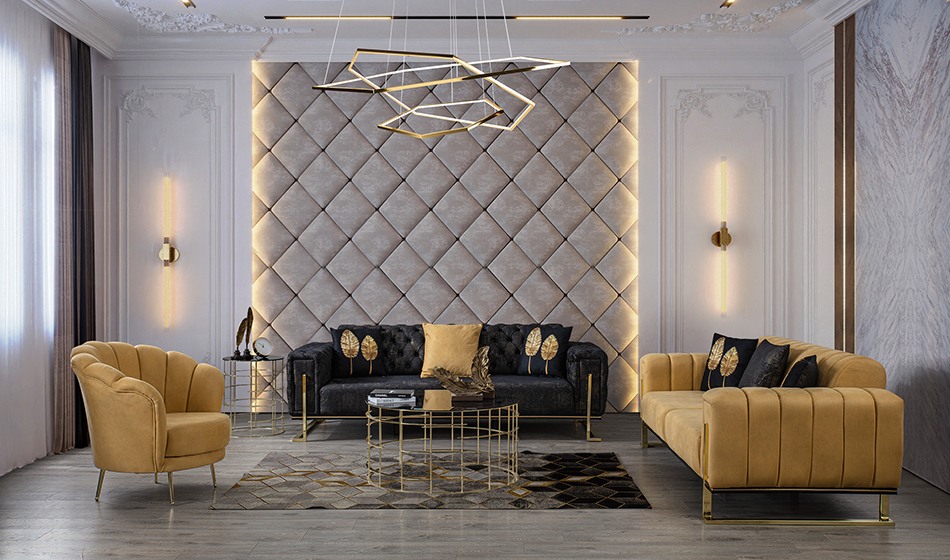 inegöl mobilya Elegance 2 Koltuk Takımı 3+3+1