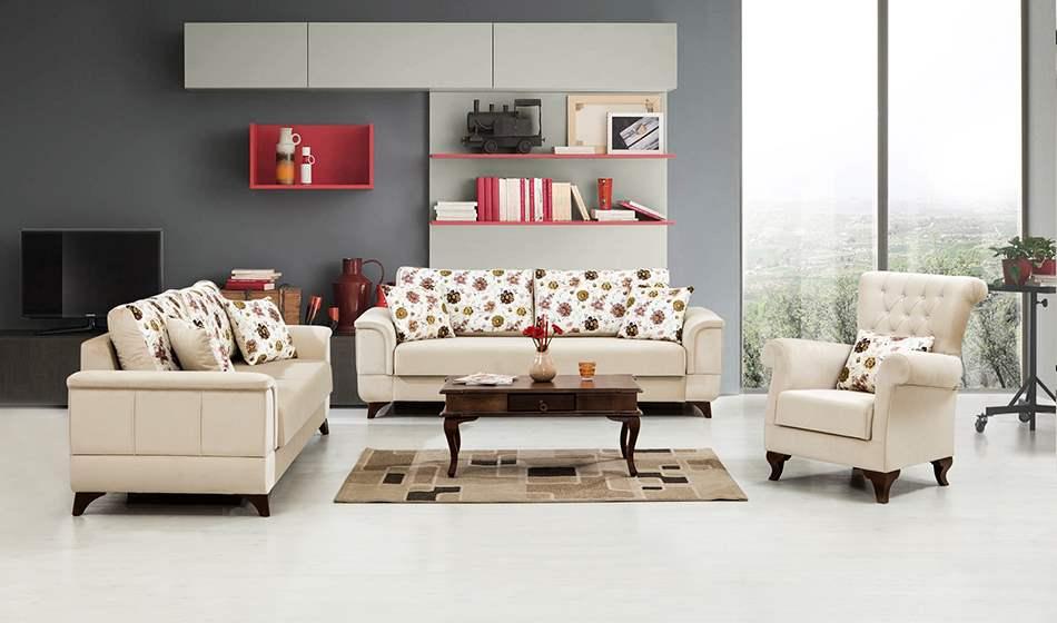 inegöl mobilya Flora Koltuk Takımı 3+3+1