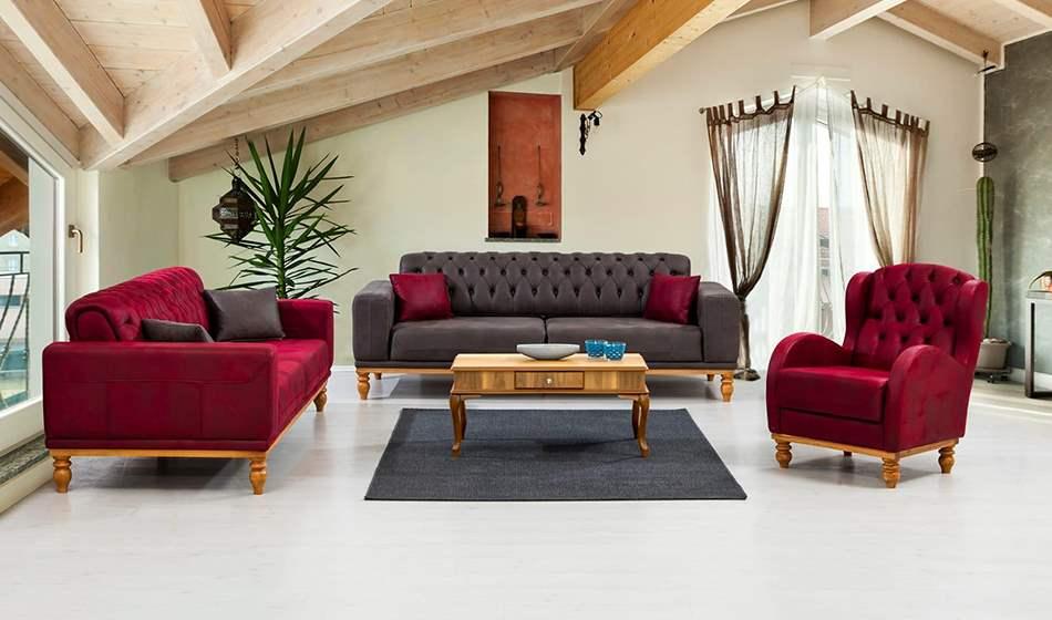 inegöl mobilya Relax Modern Koltuk Takımı 3+3+1
