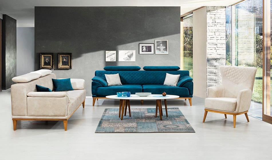 inegöl mobilya Sümela Koltuk Takımı 3+3+1