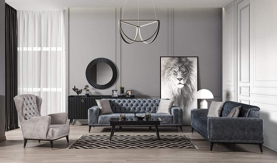 inegöl mobilya Paris Koltuk Takımı 3+3+1