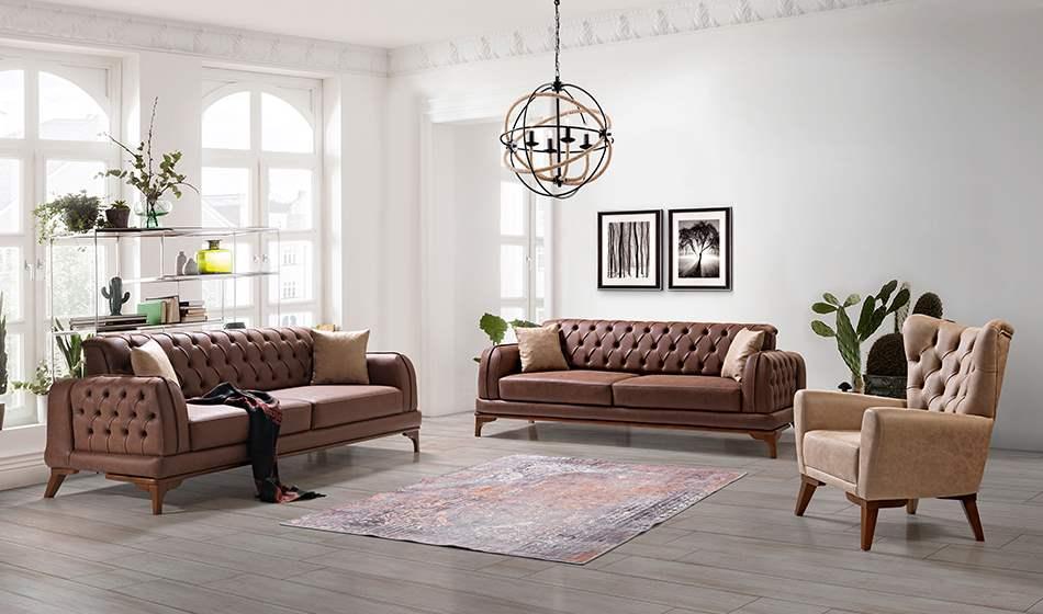 inegöl mobilya Ayder Koltuk Takımıı 3+3+1