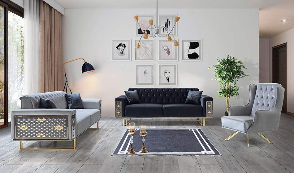 inegöl mobilya Platin Koltuk Takımıı 3+3+1