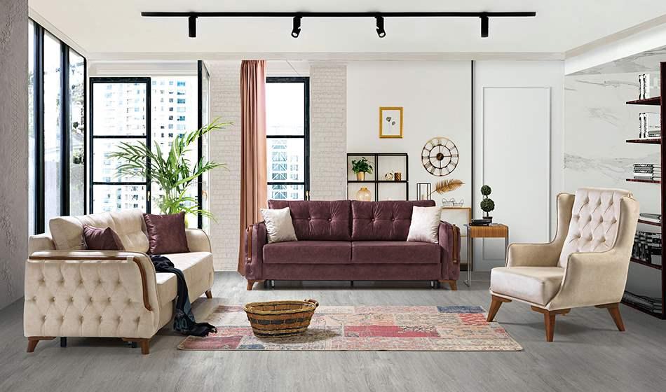 inegöl mobilya Roza Koltuk Takımıı 3+3+1