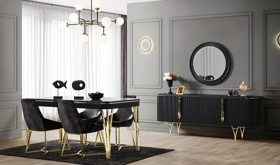 inegöl mobilya Almira Yaşam Odası (Siyah)