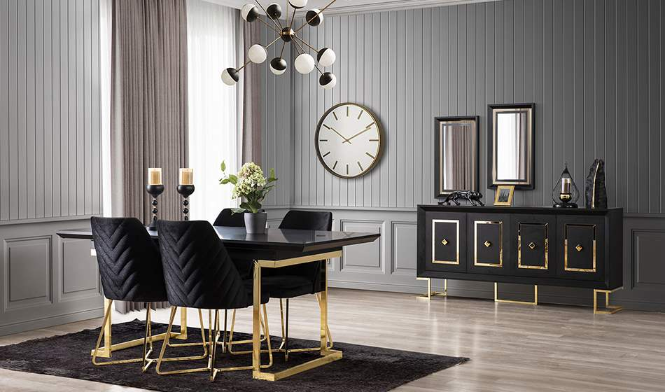 inegöl mobilya Atlantis Yaşam Odası (Gold)