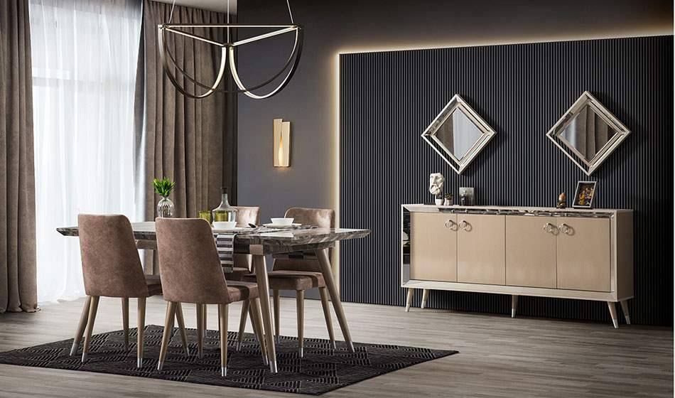 inegöl mobilya Karamel Yaşam Odası Takımı