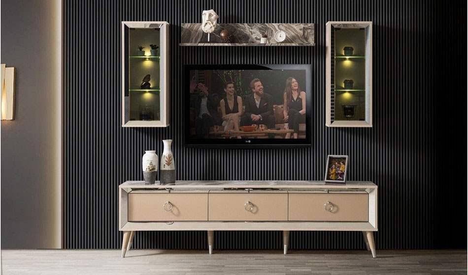 inegöl mobilya Karamel Duvar Ünitesi
