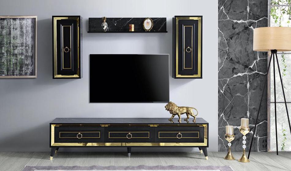 inegöl mobilya Granit Duvar Ünitesi(Siyah)