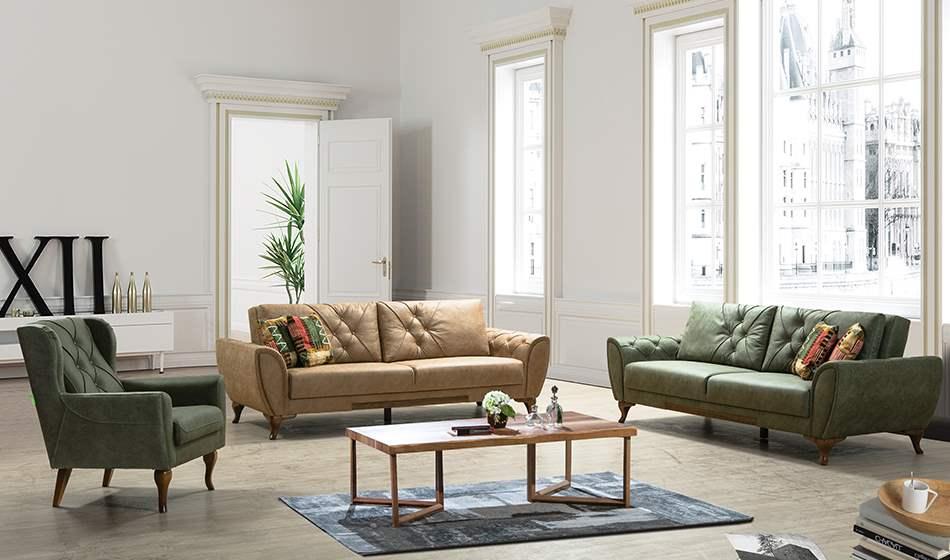 inegöl mobilya Vintage Koltuk Takımı 3+3+1