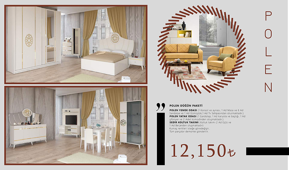 inegöl mobilya Polen Düğün Paketi